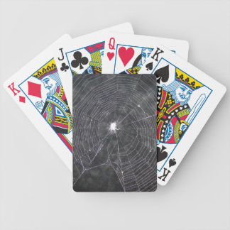 Spider Web At Night Bicycle Playing Cards