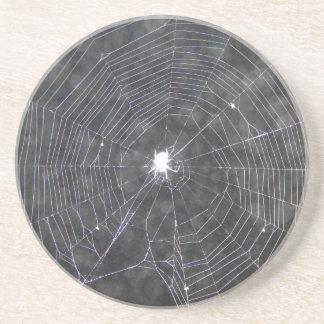 Spider Web At Night Coaster