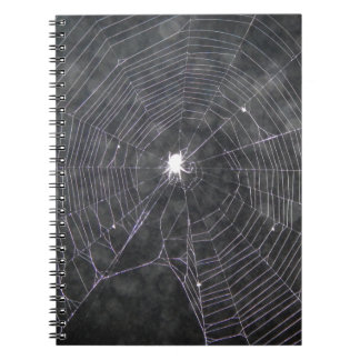 Spider Web At Night Notebook