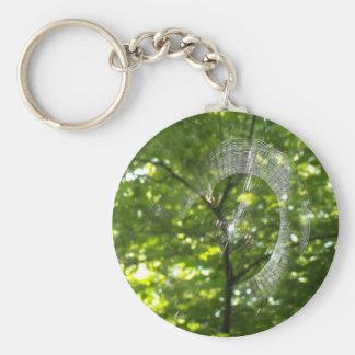 Spider web basic round button keychain