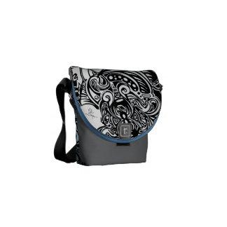 Spider Web blue and grey Shoulder Bag Courier Bags