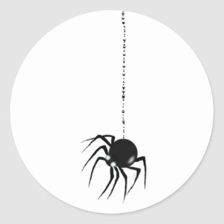 SPIDER & WEB by SHARON SHARPE Classic Round Sticker