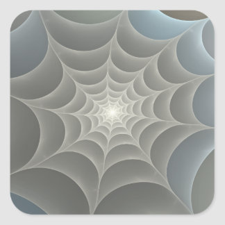 Spider Web Fractal Square Sticker