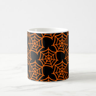 spider web halloween pattern coffee mug