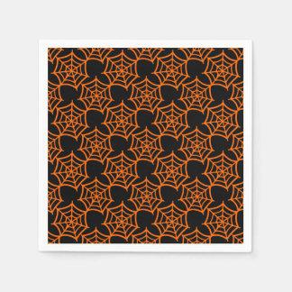 spider web halloween pattern disposable napkin
