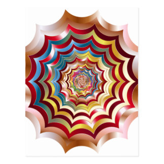 spider web hypnotic revitalized postcard