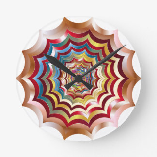 spider web hypnotic revitalized round clock