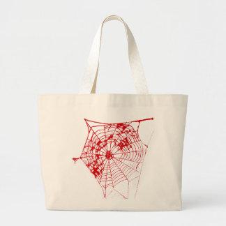Spider Web jGibney The MUSEUM Zazzle Red Web Jumbo Tote Bag