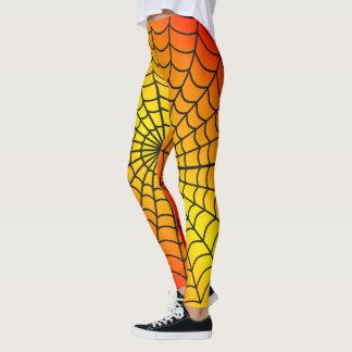 Spider Web Pattern ~  Fire Pattern ~ Leggings