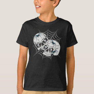 Spider Web Skulls T-Shirt