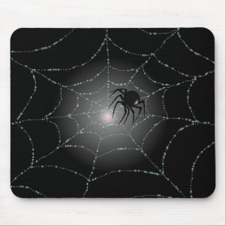 SPIDER WEB & SPIDER by SHARON SHARPE Mouse Pad