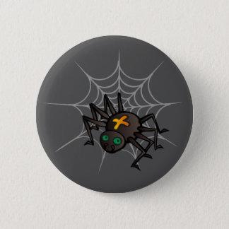 Spider & Web Standard 2 1/4 Inch Round Button