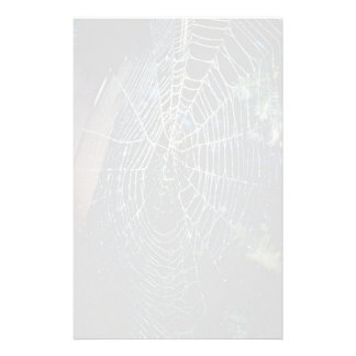 Spider web stationery