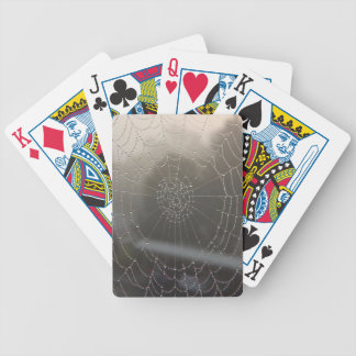 Spider Web With Morning Dew Bicycle Playing Cards