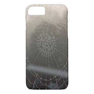 Spider Web With Morning Dew iPhone 8/7 Case