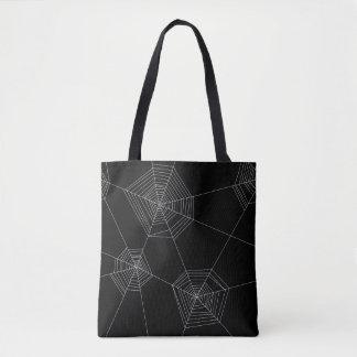 Spider Webs Black Tote Bag