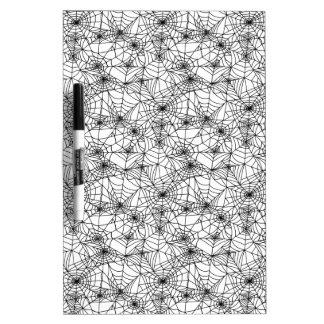 Spider Webs Dry Erase Board