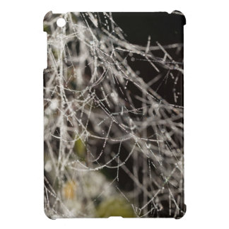 Spider webs with dew drops case for the iPad mini
