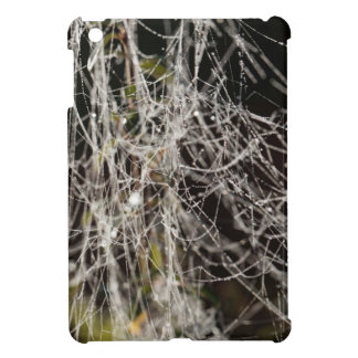 Spider webs with dew drops iPad mini cover
