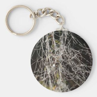 Spider webs with dew drops keychain