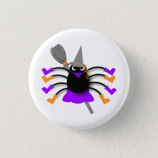 Spider Witch 1 Inch Round Button
