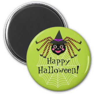 Spider Witch Happy Halloween Magnet