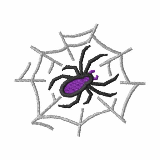 Spider with web embroidered hoodie