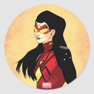 Spider-Woman Clenched Fists Classic Round Sticker