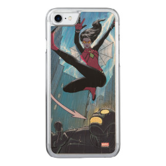 Spider-Woman Getting The Drop On Villain Carved iPhone 8/7 Case
