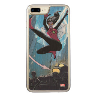 Spider-Woman Getting The Drop On Villain Carved iPhone 8 Plus/7 Plus Case