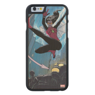 Spider-Woman Getting The Drop On Villain Carved Maple iPhone 6 Case