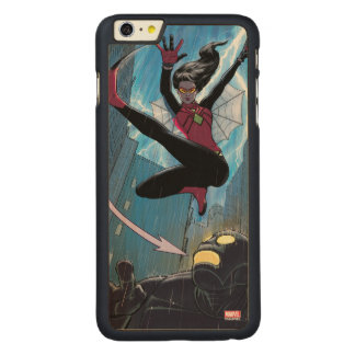 Spider-Woman Getting The Drop On Villain Carved Maple iPhone 6 Plus Case