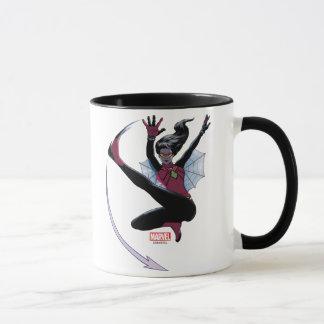 Spider-Woman Getting The Drop On Villain Mug