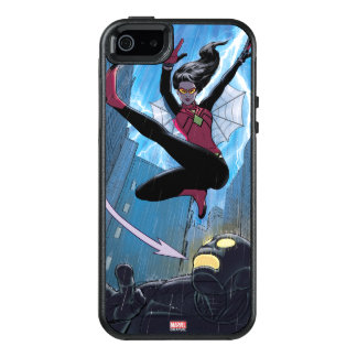 Spider-Woman Getting The Drop On Villain OtterBox iPhone 5/5s/SE Case