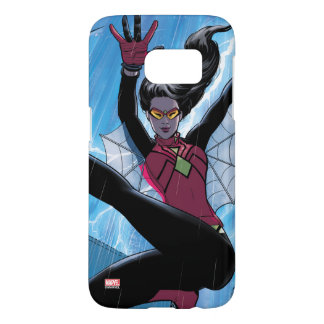 Spider-Woman Getting The Drop On Villain Samsung Galaxy S7 Case