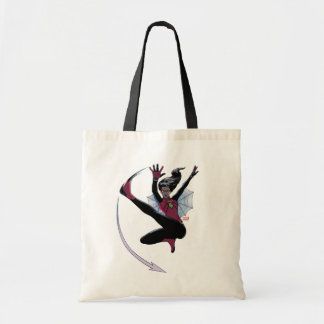 Spider-Woman Getting The Drop On Villain Tote Bag