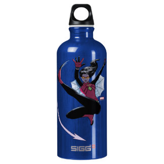 Spider-Woman Getting The Drop On Villain Water Bottle