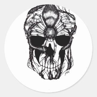 Spiderroots Classic Round Sticker