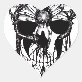 Spiderroots Heart Sticker