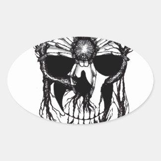 Spiderroots Oval Sticker