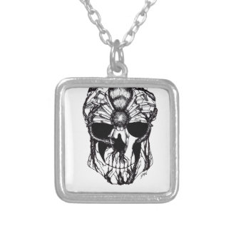 Spiderroots Silver Plated Necklace