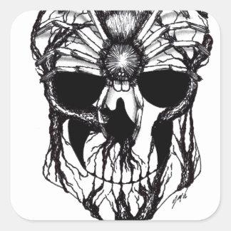 Spiderroots Square Sticker