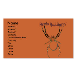 spiders #1 pack of standard business cards