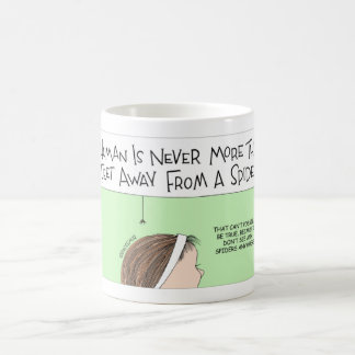 Spiders are not far away coffee mug