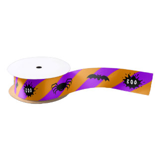 Spiders, bats and boo! Ribbon Satin Ribbon