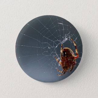 Spiders Bugs Spiderwebs 2 Inch Round Button