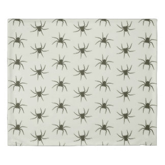 Spiders grey duvet cover