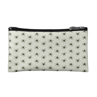 Spiders grey makeup bag