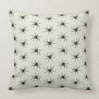 Spiders grey throw pillow