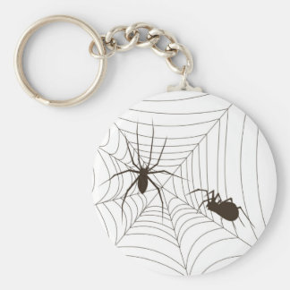 Spiders on a web keychain